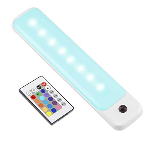 LUXSWAY LED Color Light Bar with Battery Operated , Wireless Dimmable Night Lighting , Stick On Light Bar Mulit-Color Changing for Closet ,Stair ,Shelf, Under Cabinet ,DIY Effect
