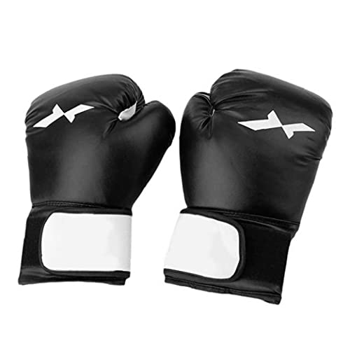 Hainice Guantes de Boxeo Punch Bag Sparring Muay Thai Training Mitts para Muay Thai Kickboxing MMA Fight Fighting Black