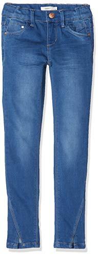 NAME IT NAME IT Mädchen NKFPOLLY DNMTIA 2160 Ankle Pant NOOS Hose, Blau (Medium Blue Denim), (Herstellergröße:98)