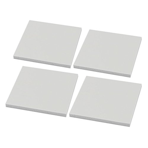 DealMux 4pcs 2mm x 30mm x 30mm Dissipatore Termico in Silicone Quadrato Sticky Thermal Pad Shim Grey