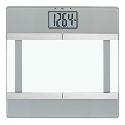 InstaTrack - Báscula igital de baño con control de grasa corporal/BMI Plus modo atleta, talla única, color plateado