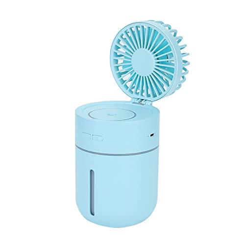 Small Desk Fan USB Desk Fan, Small but Mighty, Quiet Portable Fan for Home Bedroom Office Desktop Office Table, Adjustment for Better Cooling, 3 Speeds, 180 Degree Spray Head Shaking Fan