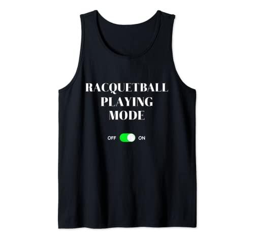 Modo de juego de racquetball en divertido juego de raqueta Squash Sports Camiseta sin Mangas
