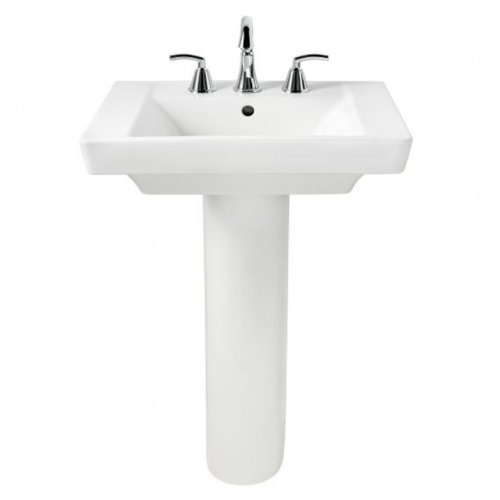 American Standard 0641.800.020 Boulevard Pedestal 8-Inch Counter, White