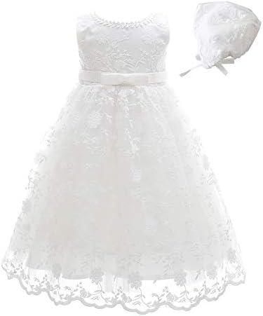 Xangirl Baby Girl Dress Formal Flower Toddler Baptism Christening Tutu Dress for Party Wedding product image