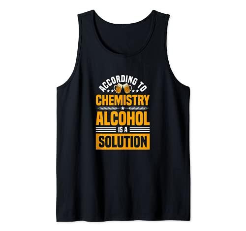 De acuerdo con la química el alcohol es una solución - alcohol divertido Camiseta sin Mangas