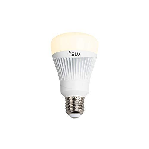 SLV PLAY Smart LED-Lampe WLAN, Dimmbare LED Glüh-Birne E27, Warmweiß bis Tageslicht, 11,5W ersetzt 60 Watt, Ohne Hub nutzbar, Kompatibel mit Alexa und Google Home Assistant, 806 Lumen, CCT