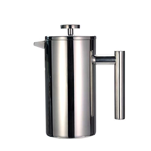 Amazing Deal Coffee Heating Filter Pot Double Layer Stainless Steel Coffee and Tea Maker French Pres...