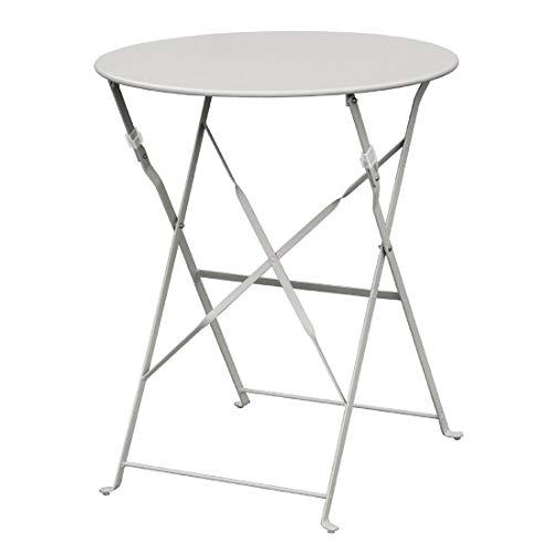 Table en acier style boléro gris (ronde 600 mm)