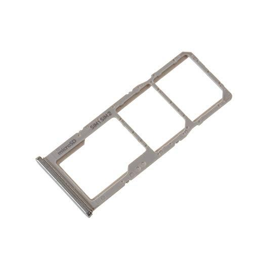 jbTec SD-Card/Dual SIM-Tray/Halter passend für Samsung Galaxy A51/A71 (Dual SIM) - Slot Karte Schlitten Rahmen Holder, Farbe:Silber