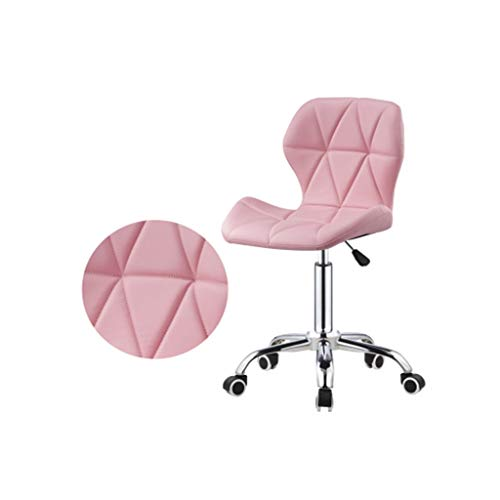 Wsmeg Arbeitshocker Bürostuhl Schreibtischstuhl Bürohocker Drehhocker Höhenverstellbar (Color : Pink)