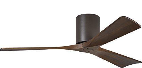 "Matthews IR3H-TB-WA-52 Irene 52"" Outdoor Hugger Ceiling Fan with Remote & Wall Control, 3 Wood Blades, Textured Bronze"