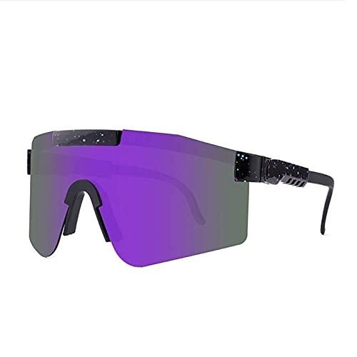 Gafas de Sol Deportivas polarizadas, Gafas Pit Vipers para Ciclismo al Aire Libre, Almohadilla Nasal con Memoria Ajustable, Senderismo, Actividades al Aire Libre, adecuadas para Correr (Color : C12)