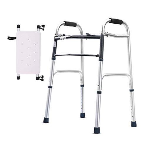 NBVCX Productos para el hogar Silla de Ducha Plegable Ligera para Caminar bariátrica con Asiento Acolchado Estructura para Caminar - Sillas de Transporte de Ayuda para Caminar de Altura Ajustable