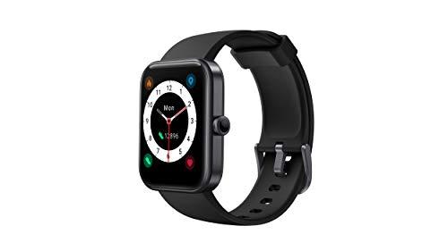 CUBOT ID206 Orologio da polso fitness con touch screen da 1,69 pollici, Alexa integrato, orologio sportivo, fitness tracker, monitor del sonno, impermeabile fino a 5 ATM, per uomo e donna (nero)