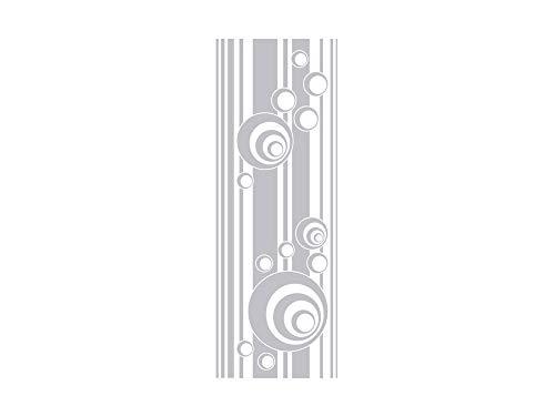 GRAZDesign Fenstertattoo Retro, Streifen und Kreise, Fensterfolie für Badezimmer, Glastattoo für Dusche / 112x40cm