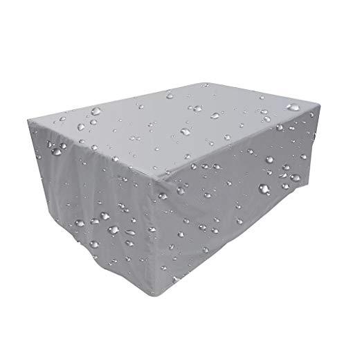 Fundas Muebles Jardín, Conjuntos de Muebles Impermeable para Sofa de Jardin al Aire Libre Patio, Rectangular