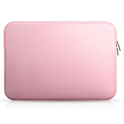 Tablet Funda portátil portátil colisión de lapicería de evitación 15.6 Pulgadas Notebook Bolsa Compatible con iPhone Rosa