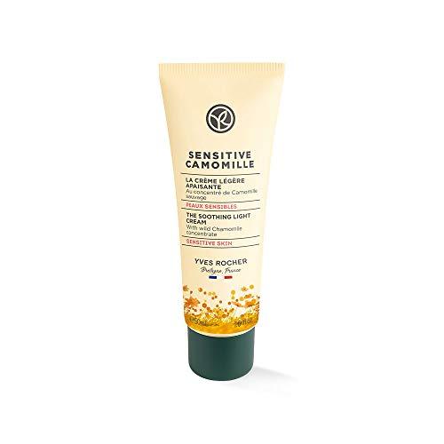 Yves Rocher Sensitive Camomille Leichte beruhigende Gesichtspflege, stärkende Creme für empfindliche Haut, 1 x Tube 50 ml