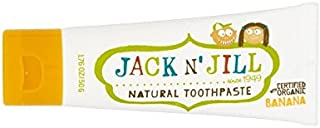 有機香味50グラムと自然バナナ歯磨き粉 (Jack N Jill) (x 4) - Jack N' Jill Banana Toothpaste Natural with Organic Flavouring 50g (Pack of 4) [並行輸入品]