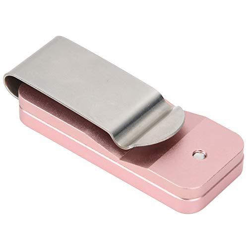 01 Clip de Tiza para Palo de Billar, Clip de Tiza de Billar Material de Aluminio Ligero y Duradero Cómodo de Llevar para Accesorios Deportivos de Taco