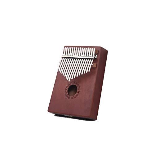 YXIAOn Kalimba 17toetsen Pianoforte van puur mahonie mahonie, 7 modellen zijn optioneel, gemakkelijk te vervoeren, eenvoudig te leren, de laatste kleur van het hout is eenvoudig te bedienen, je maakt het jezelf Brown-F