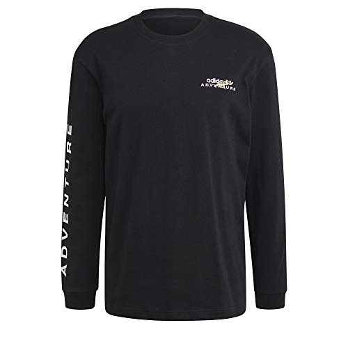 adidas ADV LS tee Camiseta, Negro, XXL para Hombre
