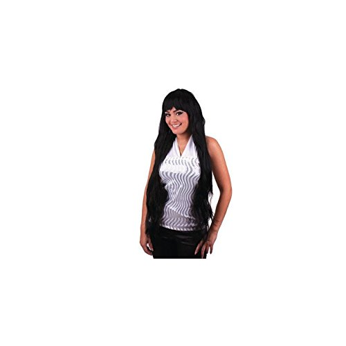 Fiesta Palace - perruque elisa cheveux longs noir
