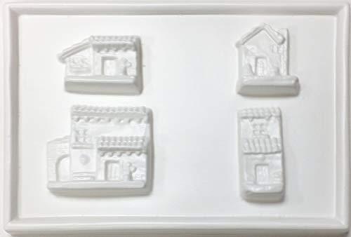 hobby e Blu Stampo PVC Case 13x19 cm, Perfetto per colate in Gesso o Marmo per composizioni Case del presepe o diorami