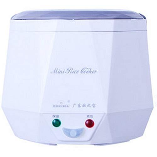 Elektro Reiskocher 12 V 24 V 220 V für Auto/Lkw/Home multifunktions 3 Tassen Mini Lunchbox Dampfgarer Für 1-2 Personen (white, AC220V)