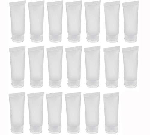 20 PCS Clair Vide Rechargeable en Plastique Doux Tubes Cosmétique Échantillon Bouteilles Bocaux Maquillage Voyage Conteneurs (20ml)