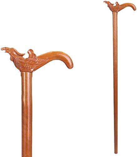 Andadores para discapacidad Andador para Ancianos Ancianos de Madera de caña de Peso Ligero Antideslizante de Hombres y de Mujeres Bastón (Color : Faucet, Size : 90cm)