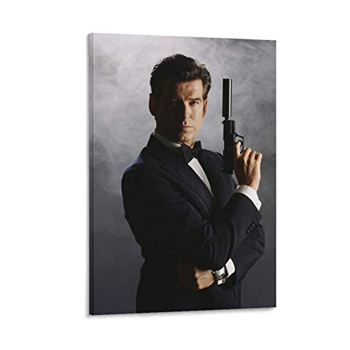 Yunle Movie Pierce Brosnan As Ian Fleming's James Bond 007 Poster decorativo su tela da parete per soggiorno, camera da letto, 50 x 75 cm