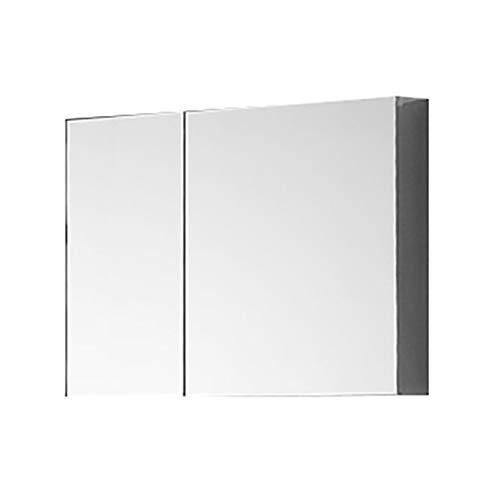 NJ Moderno Armario Espejo Baño Longitud: 40-80cm Hoja De Acero InoxidableHD Silver Mirror Armario con Espejo De Baño Montado para Guardar Muebles De Baño Mueble Espejo De Baño