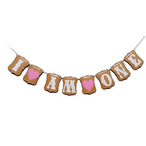 Aohua Ingenieus Zoet Hart Eerste Verjaardag Cake Topper Decoratie Eerste Verjaardag Ik ben Een Banner Voor Baby Meisje Zoet