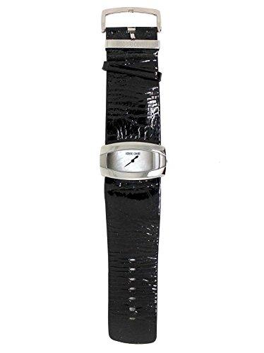 Roberto Cavalli 7251110015N Montre pour femme en cuir, peinture effet rides, noir