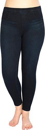Spanx Women's Plus Size Jean-ish Ankle Leggings Twilight Rinse 1X 28