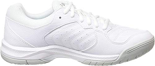 Asics Gel-Dedicate 6, Zapatillas de Tenis para Mujer, Blanco (White/Silver 101), 38 EU