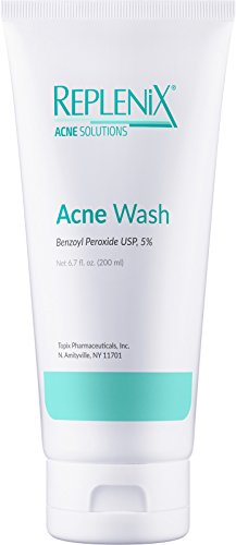Replenix 5% Benzoyl Peroxide Wash, Advanced Acne Cleanser for Face and Body, 6.7 oz.