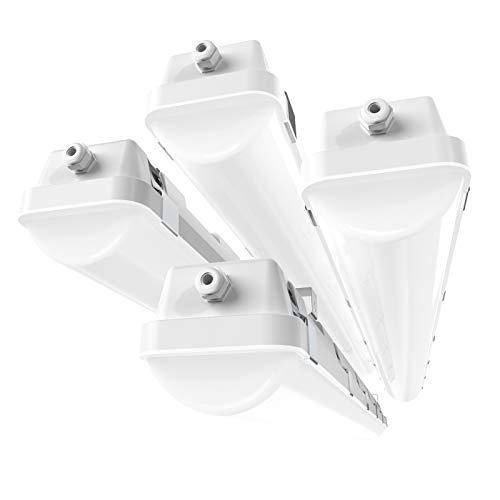 HYPERLITE 4FT LED Vapor Tight Light Fixture 40W Shop Lighting 4-Pack 5200LM 5000K Outdoor Waterproof LED Vapor Proof Light Fixture IP65 UL Approved 110-277Vac Input Voltage