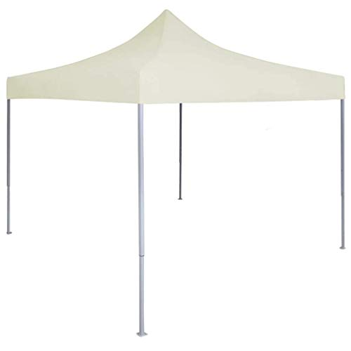 Küchenks Professional Folding Party Tent Gazebo Tent for Outdoor Events Sturdy Frame 2x2 m Steel Cream