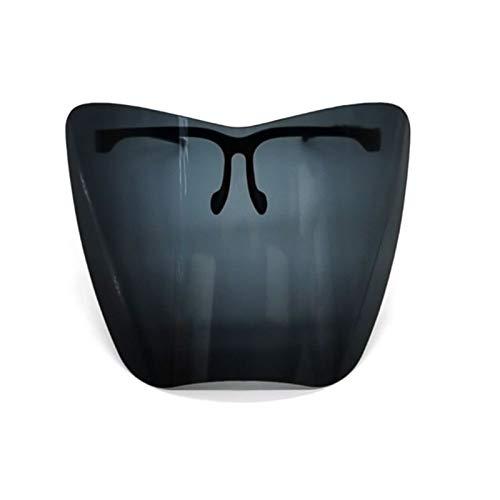 YANZHU Face_Shìeld Brillen-Schutzbrille, 2021 Vollgesichts-Rundum-Schutz Sicherheit_Maske, Männer und Frauen Transparent Staubdicht Winddicht Waschbar Visier Face Bandanas Gr. M, Schwarz