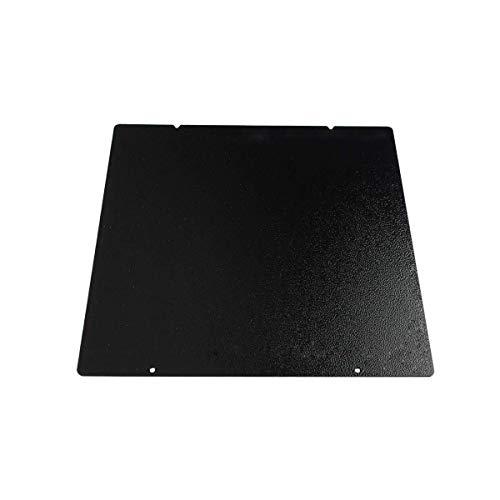 BCZAMD 3D Printer Upgrade Build Plate, MK52 Black Double Sided Textured PEI Spring Steel Sheet Powder Coated PEI Build Platform for Prusa i3 MK2.5S MK3 MK3S, 254 x 241mm
