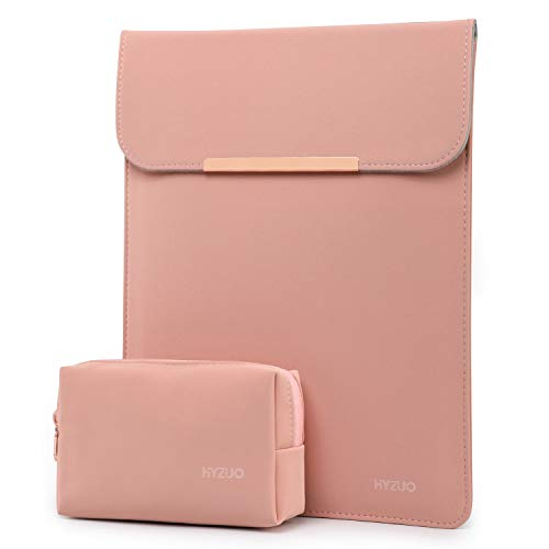 HYZUO 15-16 Inch Laptop Sleeve Case Bag Compatible with 2019 2020 New Macbook Pro 16 A2141/ Surface Laptop 3 15 Inch/Dell XPS 15/2012-2015 Old MacBook Pro 15 A1398 with Small Bag, Pink
