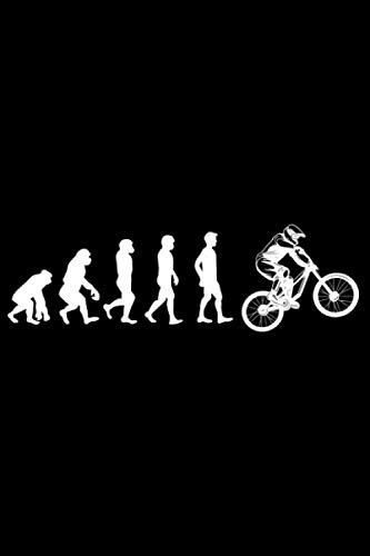 Evolution Downhill Fahrrad: DIN A5 Liniert 120 Seiten / 60 Blätter Notizbuch Notizheft Notiz-Block Downhill Fahrrad MTB Mountainbike Bike Geschenke
