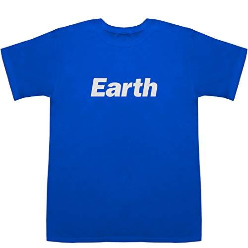 Earth アース 地球 T-shirts ブルー M【ハレー彗星 尾 地球】【地球大進化 46億年・人類への旅 o.s.t】