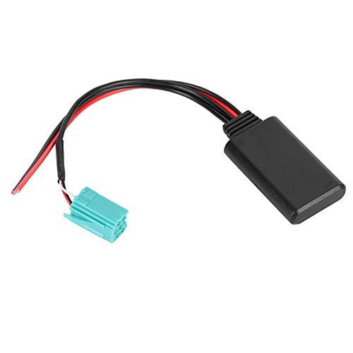 YOPOTIKA 1Pc Audio Cable Inalámbrico Conector de Radio Estéreo de Coche Bluetooth Cable de Radio Estéreo Adaptador de Entrada Auxiliar para Modelos Renault Modus 2005 a 2011 Negro