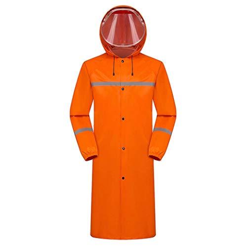 DongYuYuXuXi Zwarte regenjas, sport wandelen, speelruimtetent, heren, lange regenjas met capuchon, overall regen, yuding, survival, poncho, waterdicht X-Large oranje