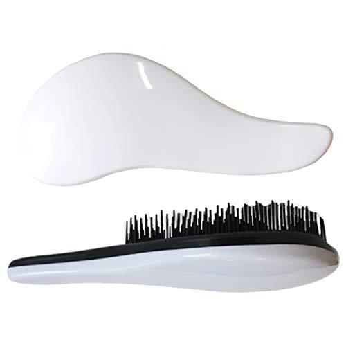 2 cepillos para el pelo desenredantes DEtangleR Tangle Master en color blanco o rosa o azul cepillos para desenredar y lograr un pelo perfecto, Color Blanco