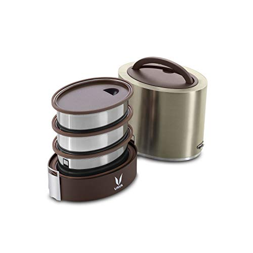 Vaya Tyffyn Polished Stainless Steel Lunch Box Without Bagm
